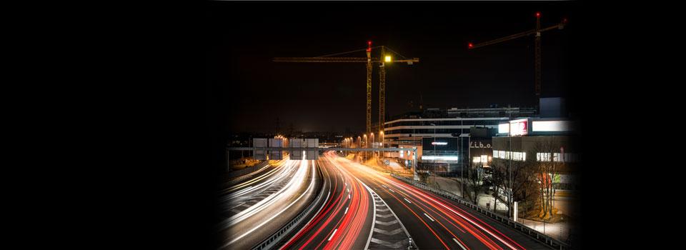 Baustelle Bern Nacht